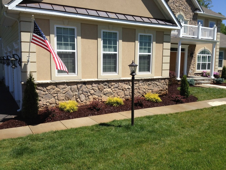 Side By Side Garage : Garage the flag and shrubs on pinterest