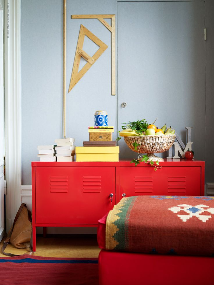 IKEA PS Cabinet, red