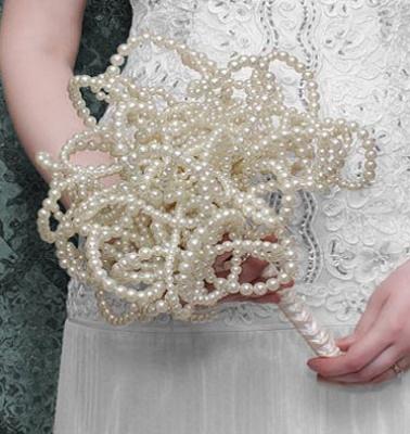 Unique pearl wedding bouquet