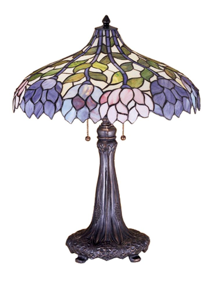 Tiffany Lamps For Sale | Meyda Tiffany 30452 Wisteria Table Lamp in Copperfoil finish