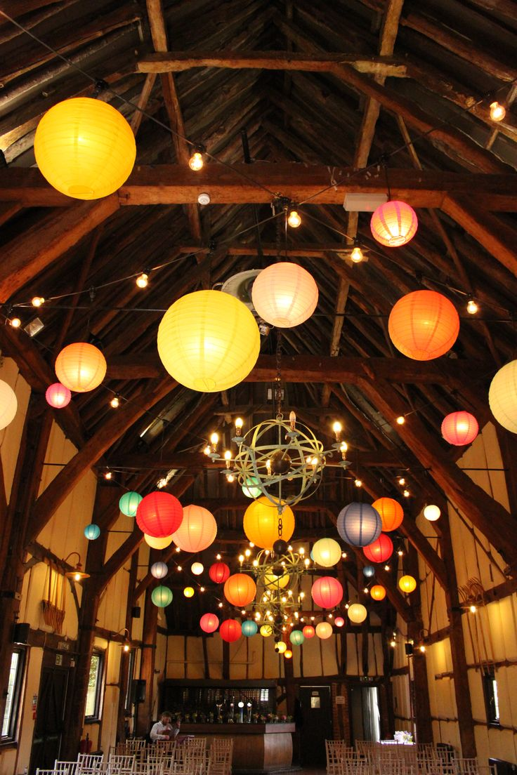 magical wedding moments! They used several pieces of paper lanterns that vary in…