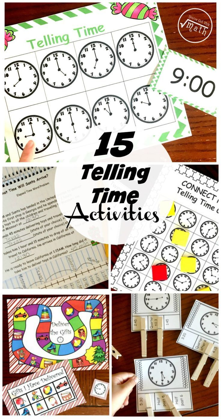 """Is it """"time"""" for your kiddos to learn to tell time? Then these 10 fun and engaging ways to teach and practice telling time may be just what you need."""