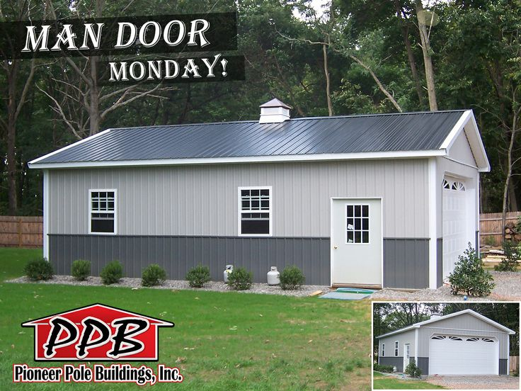 Pole Buildings, Dream Garage, Car Garage, Pole Barns, Project 24, Entry  Doors, Garage Ideas, Garages, Pitch