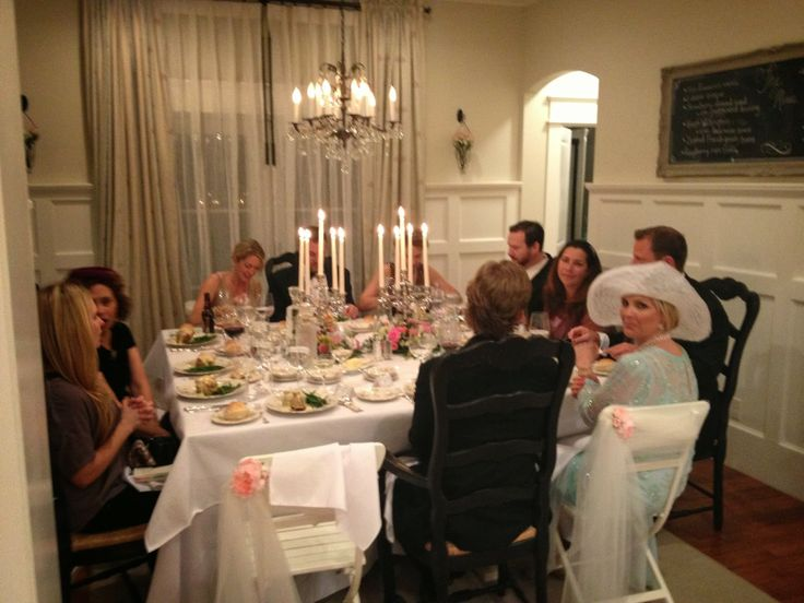 Dinner Party Ideas At A Restaurant Part - 42: The Lemonista: A Downton Abbey Dinner Party... This Is So Impressive!