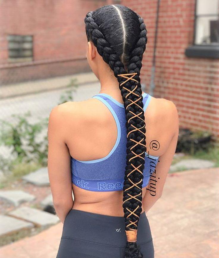 Dope braids @_jazitup - https://blackhairinformation.com/hairstyle-gallery/dope-braids-_jazitup/