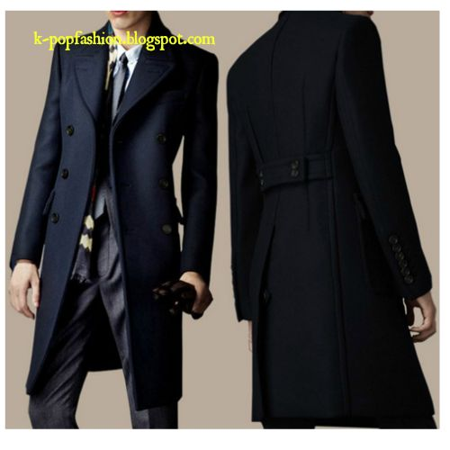 Men's British S-4 XL wool coat