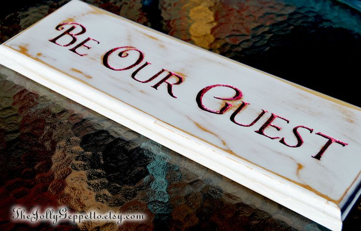 Be Our Guest, Beauty and the Beast Wood Sign, Disney, Wedding, Home Decor, Hand routed Wood Sign, by The Jolly Geppetto by TheJollyGeppetto on Etsy