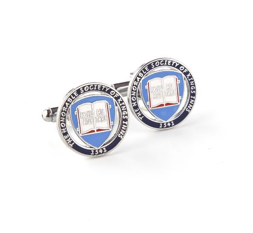 King's Inns Cufflinks - The Honorable Society of King's Inns.  Suitable for men and women, they come in both styles (Bullet cufflink or Chain cufflink). All cufflinks are boxed and make a wonderful gift for any graduate of King's Inns.
