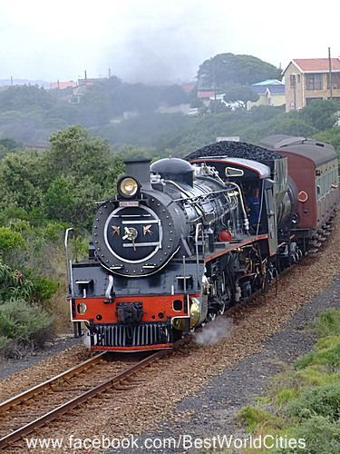 George (South Africa)   Wish this train - the Outingiqua Choo-choo was still running.   Such a fun trip between Knysna and George.  P.S.  I have been told that they are bringing back this train!!   Yay!!!