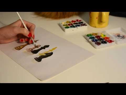 Step by step, speed painting of watercolor chess pieces by Oana Unciulea...