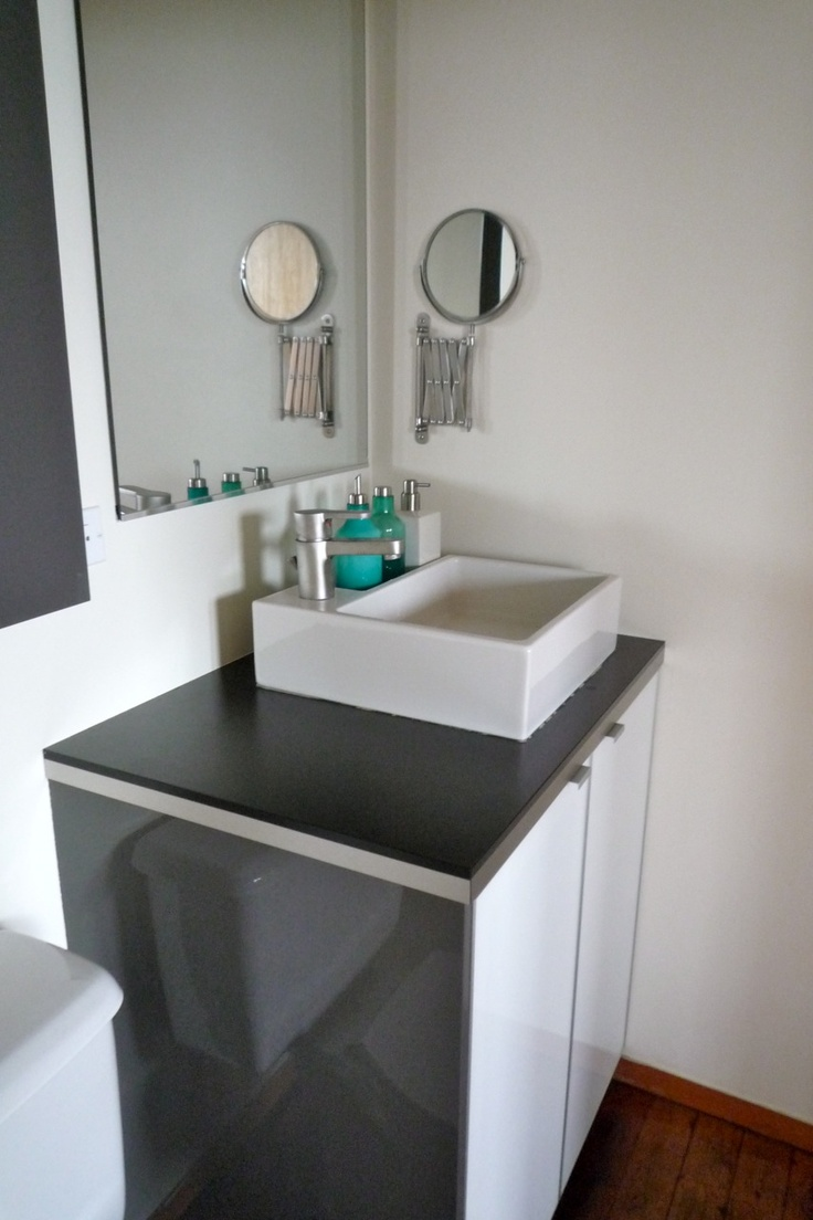 redoing bathroom%0A ikea lillangen sink on akurum cabinet Design Dichotomy  December