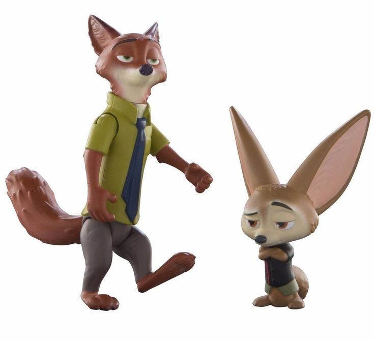 Disney Zootopia Characters Pack Nick And Finnick by Tomy- NIB