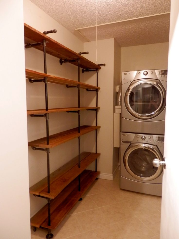 Simple Iron Pipe Wall Shelves