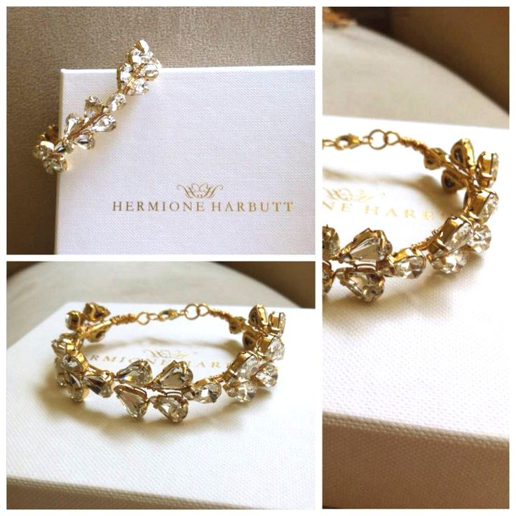 Hermione Harbutt bespoke gold Leafy Glamour bracelet. Kindly click here to find out more about our bespoke designs: https://www.hermioneharbutt.com/bespoke.php