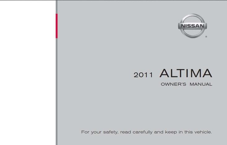 Nissan Altima 2011 Owner's Manual has been published on