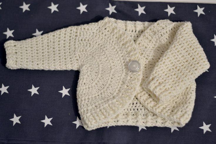 111 Tutorial wiosenny sweterek na szydełku każdy rozmiar - sweater baby crochet