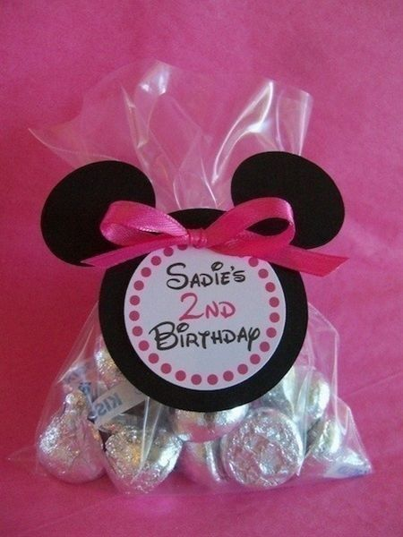 Minnie Mouse Hot Pink or Red personalized Favor by maddieclaire