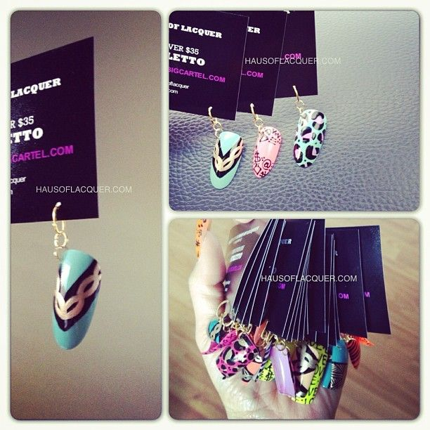 """hausoflacquer: """"Even my business/promo cards wear accessories. Yup #holoriginal #businesscard #nailart #nailaccessories #promo """" SO COOL"""