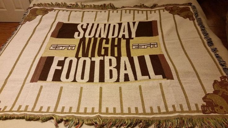 Espn Man Cave Show : Rare espn sunday night football blanket for man cave wall