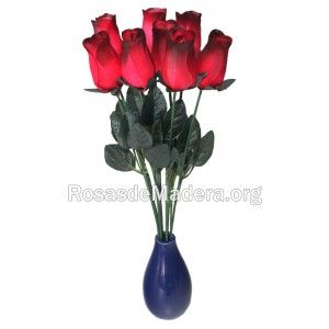 Rosa grande roja