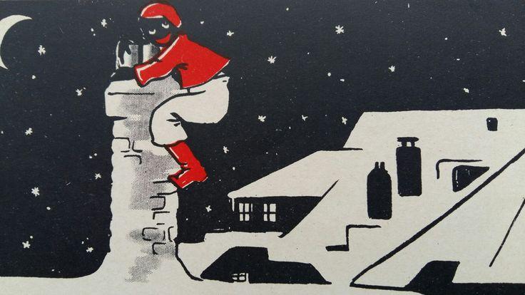 Piet klimt op de schoorsteen