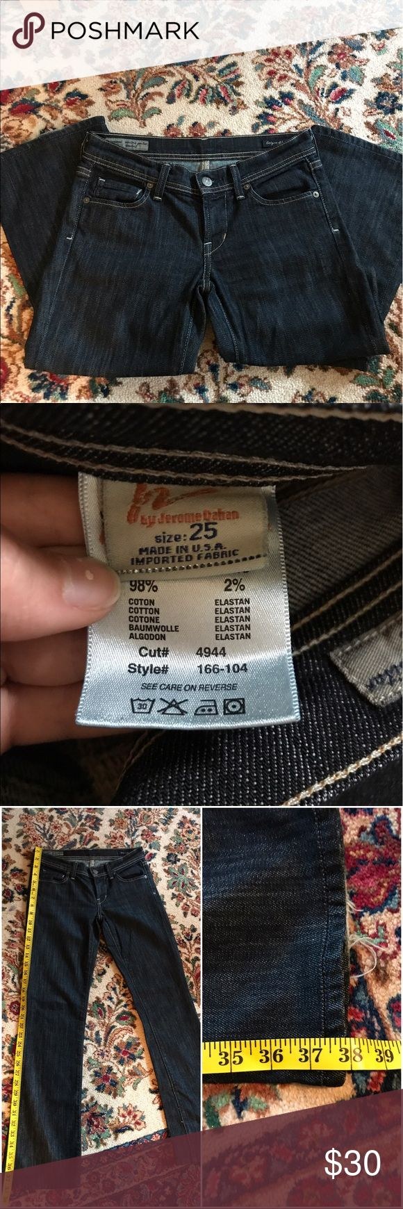 Citizens of Humanity Jeans Excellent condition Citizens of Humanity by Jerome Dahan jeans. 3rd picture shows the complete length, 4th picture shows the inseam length. They are a size 25 tagged. A small loose thread/tear on left bottom. More measurements will be taken upon request. Made in USA. I have MANY jeans that are altered to fit a petite lady so please bundle and make offers. Any questions, leave a comment. Offers welcome :) retail for $298 Citizens of Humanity Jeans