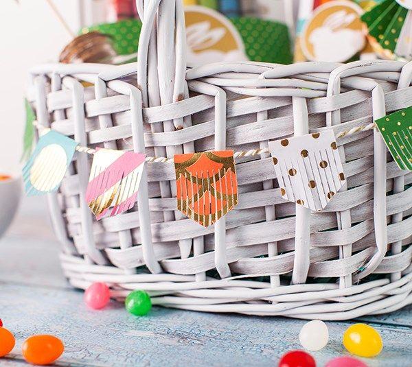 254 best easter cricut diy holidays images on pinterest easter loving this easter basket fringe banner easter craftsholiday craftsgift card holderscard negle Images