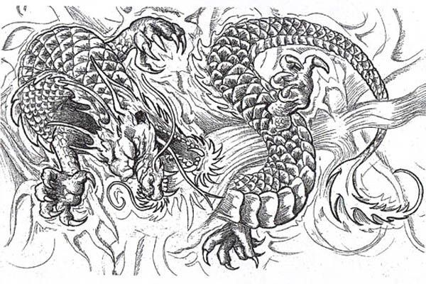 It is an image of Crafty Free Printable Coloring Pages for Adults Advanced Dragons