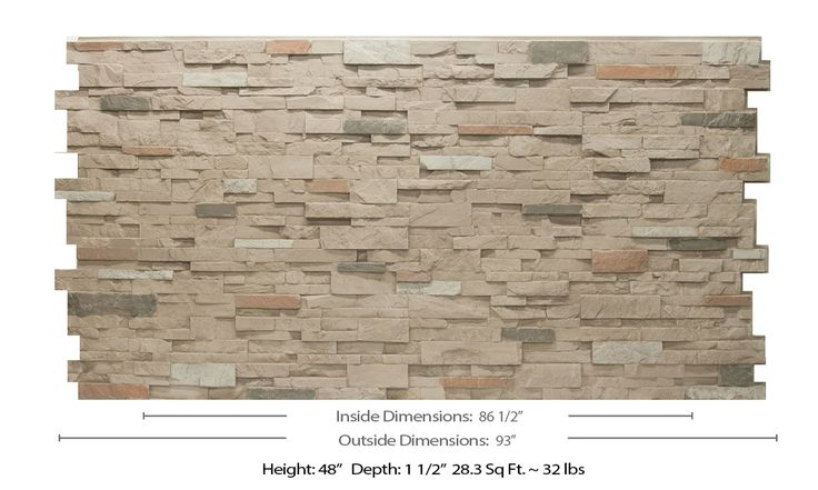 Stacked Stone Grande 4x8 - Replications Unlimited - Faux Stone Sheets