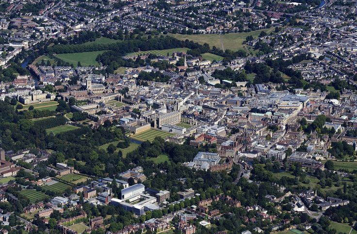 Cambridge aerial image by John Fielding #cambridge #aerial #view #uk
