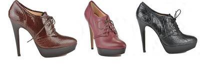 #zapatos abotinados, con #tacón y #plataforma, ideales para el #invierno #moda #tendencias. Son de @Rebeca_Sanver