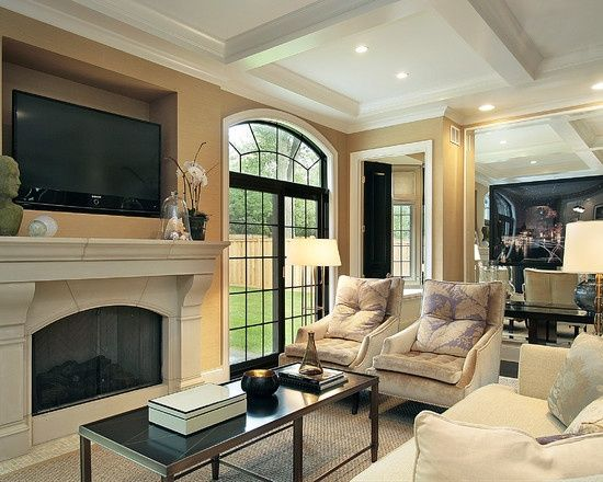 family rooms with fireplaces | traditional family room gas