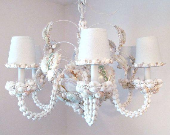 Seashell Chandelier Lighting Shell By Sandisshellscapes