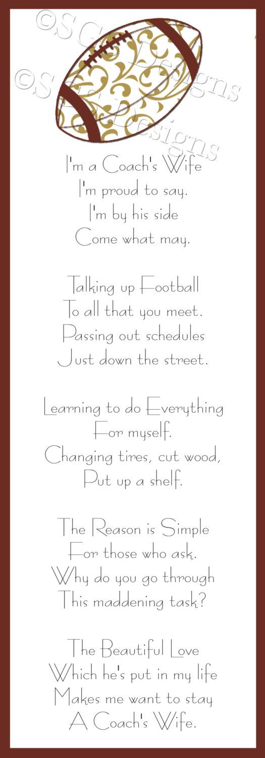 Football+Coach's+Wife+Poem+Digital+File+by+SouthernGypsySoul,+$5.00