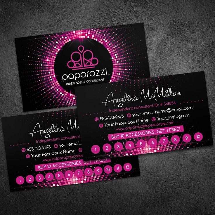 Paparazzi loyalty cards, paparazzi business cards