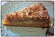 Sahne-Apfel-Kuchen mit Nusskaramell