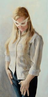 The Superwoman - oil painting by Jane Gardiner - http://glasgowpainter.blogspot.co.uk/2014/08/superwoman-and-teenager.html