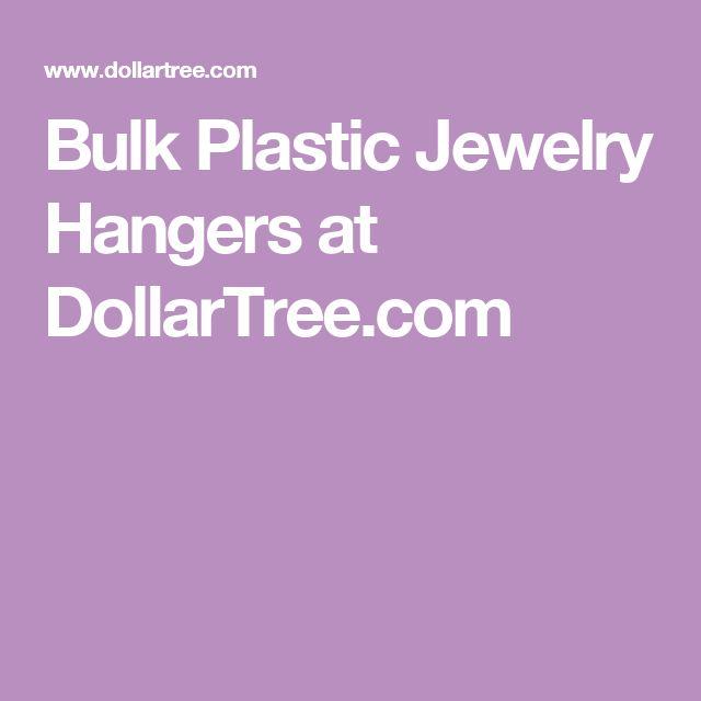 Bulk Plastic Jewelry Hangers at DollarTree.com
