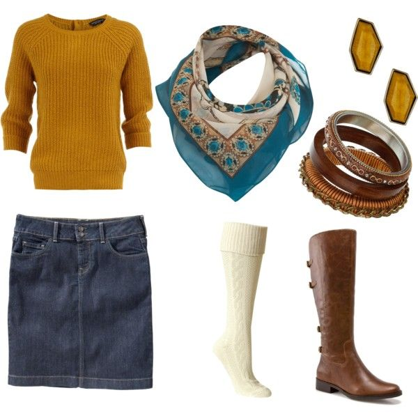 .winter shopping with a friend outfit mustard and denim blue