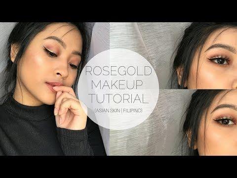 RoseGold Makeup Tutorial   Asian Skin (Filipino) http://makeup-project.ru/2017/06/07/rosegold-makeup-tutorial-asian-skin-filipino/