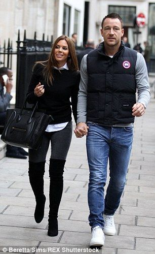 Terry and wife Toni pictured in London last Thursday...