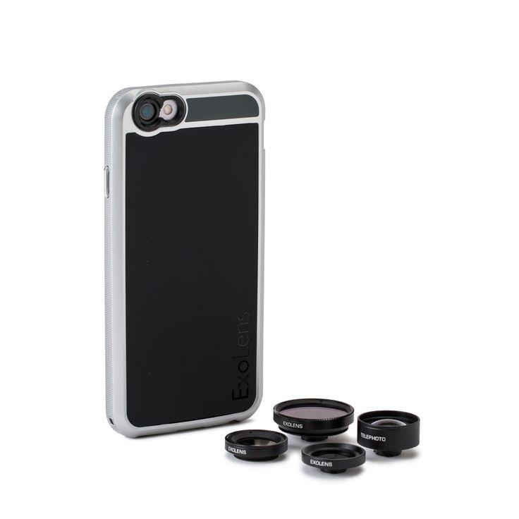 """久しぶりに会う友達との楽しいご飯。家族や友人との旅行。大人数で集まる BBQやピクニック。その""""瞬間""""は、一度しかない訪れない。EXOLENS CASE は、一眼レフのようにその瞬間を撮影できるレンズキット。一眼レフやカメラの知識やノウハウは必要なし。iPhone にレンズをつけるだけで気軽に、本格的に撮影が可能。レンズがあるだけで、日常に撮る「楽しみ」を増やしてくれる商品です。いい写真の秘訣は「ガラス」レンズEXOLENS のレンズが他社と違うところ。それは、ガラス製のレンズ。しかも、ただのガラスではなく、透明度が高く、光の透過性に優れた光学グレード。歪みが少なく、iPhone本来のクリアで鮮明な画質のまま撮影することができます。本レンズキットには、あらゆるシーンに合わせて4つのレンズが入っています。①撮れる角度が広がる、広角レンズ(95°)- WIDE-ANGLEiPhone…"""
