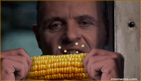 funny pictures crazy fun eating corn gif
