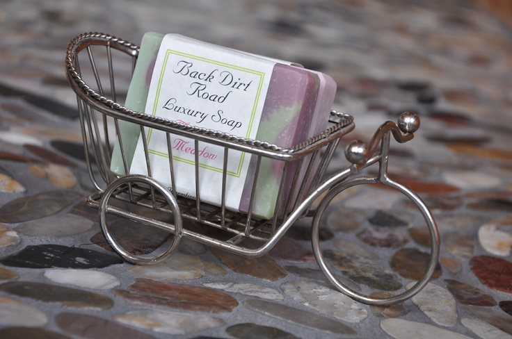 It's almost spring!  Hop on your bicycle and go for a spin.  Once you're done, try a luxury bath bar, this one's Mountain Meadow, smells just as fresh as it's name.  www.backdirtroad.com