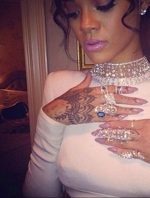 best 9 rihanna�s tattoos images on pinterest other