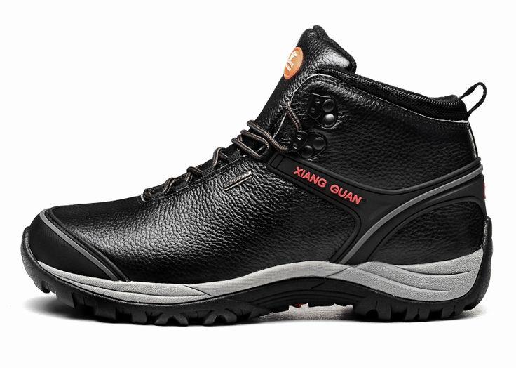 Brand Мужские Зимние Кожаные Открытый Поход Походные Ботинки Обувь Для Мужчин Спортивное Скалолазание Горные Ботинки Обувь Человек Senderismo