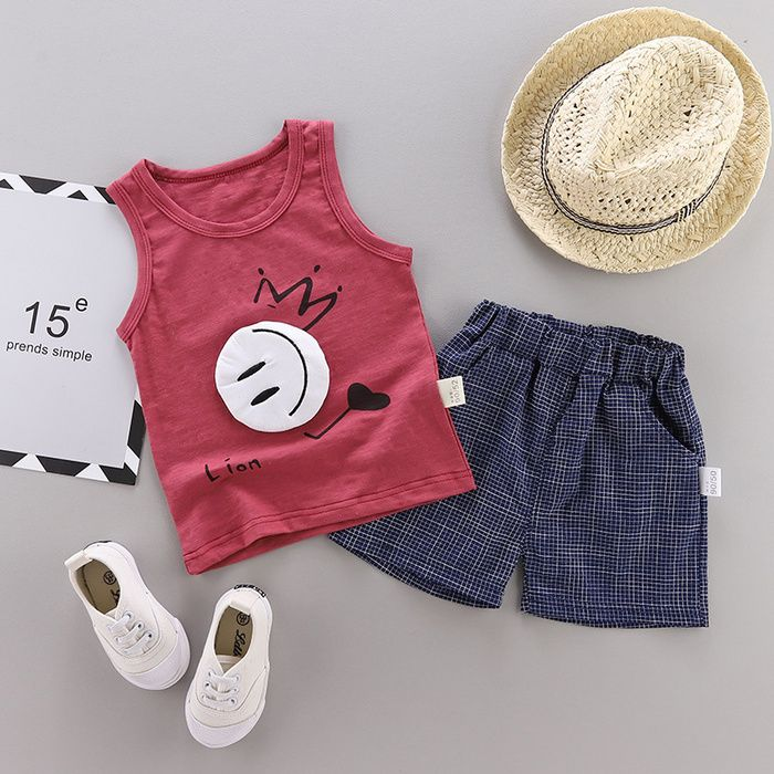 Children S Wear Boys Summer Wear Vest Suit Babies Summer Clothes And Girls Two Suits Summer Wear For Boys Baby Boy Clothing Sets Childrens Suits