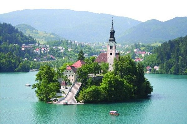 Lake Bled Slovenia.  Quite possibly one of my favorite places we've been to since we've lived in Europe.  We fell madly in love with the lake and town alike.  I can't wait to go back again.