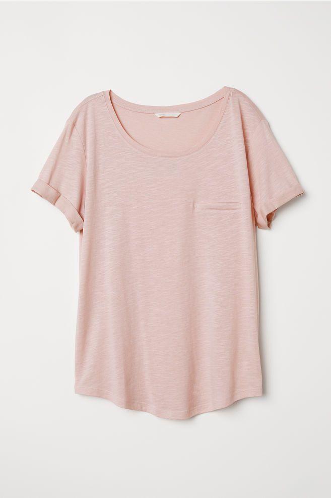 1a55708d844e1 Slub Jersey T-shirt in 2019 | My style | Rose shirts, T shirt, H&m ...