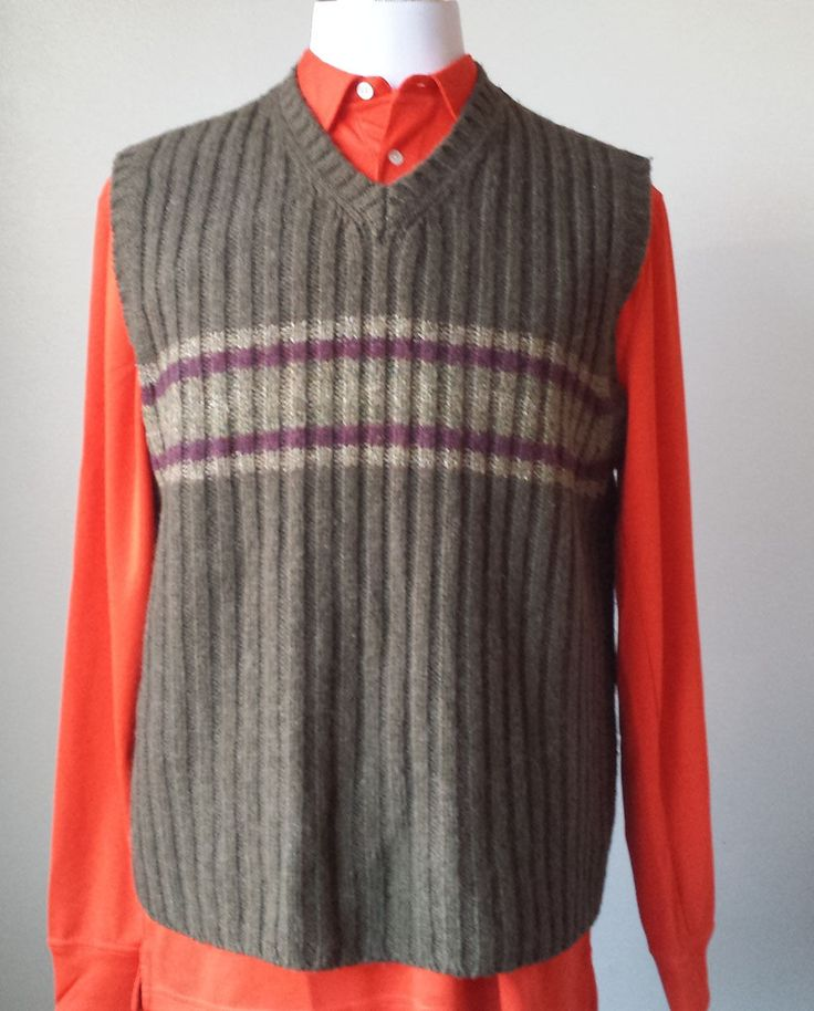 American Eagle Outfitters men size L 95% #wool 5% silk vest visit our ebay store at  http://stores.ebay.com/esquirestore